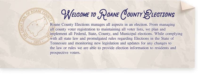 Welcome to Roane County, Tennessee